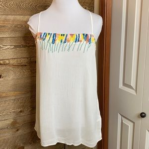 French connection Melissa top embroidered top